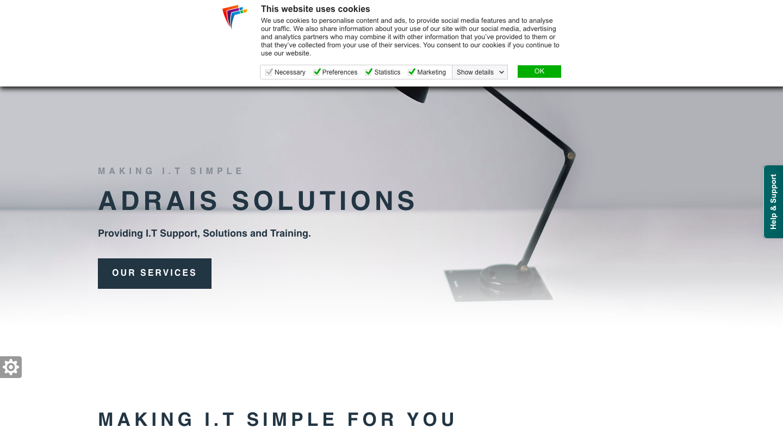 Adrais Solution website
