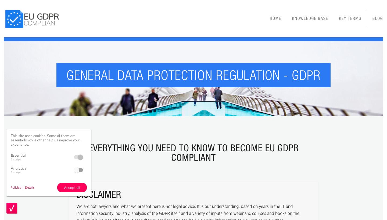 EU GDPR Complaint Website
